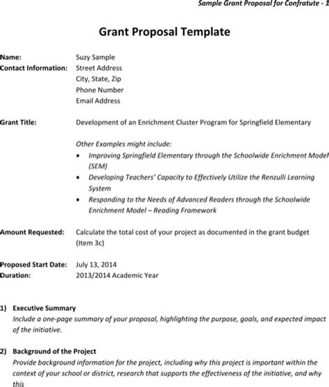download sle grant proposal for free formtemplate