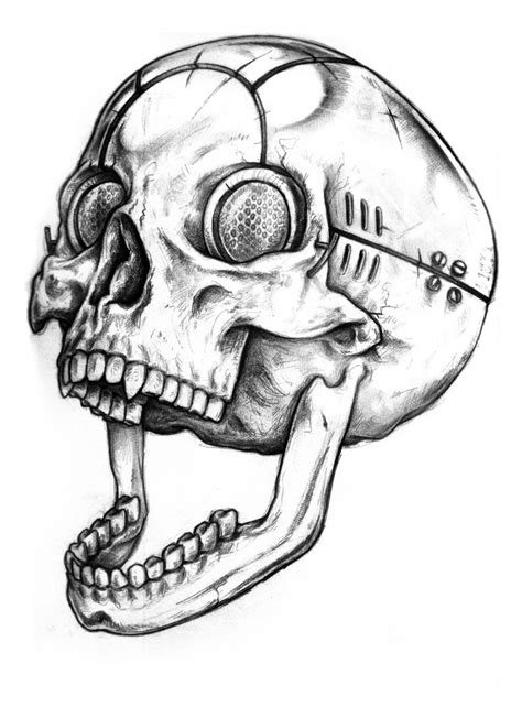 cyber tattoo designs cyber skull design by wolfmweh on deviantart