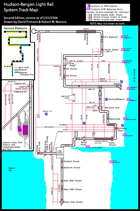Hudson Bergen Light Rail Map by World Nycsubway Org New Jersey Transit Hudson Bergen