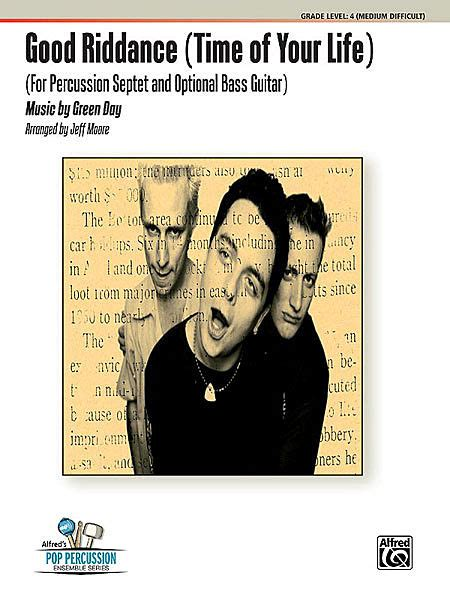 free download mp3 good riddance time of your life sheet music good riddance time of your life percussion