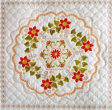 Quilts With Embroidered Blocks by Embroidered Quilt Block In Threads