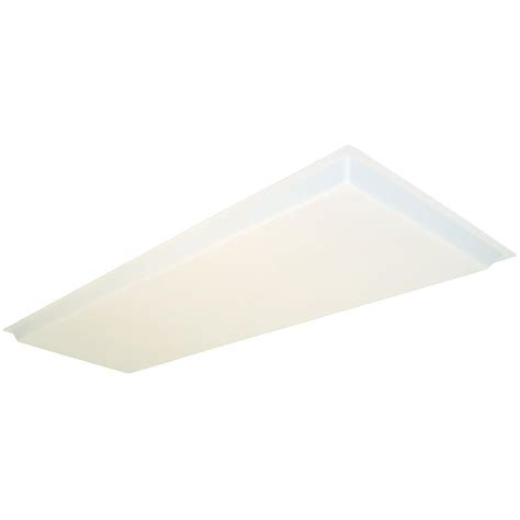 lithonia lighting 1 1 2 ft x 4 ft dropped white acrylic