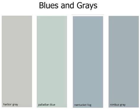 gray blue paint colors i like the nantucket gray for a neutral main color and