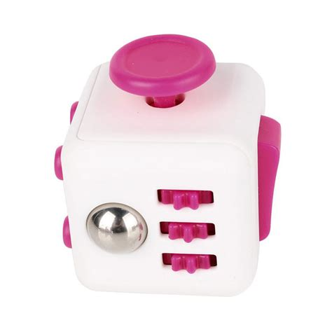 Cubes Pink fidget cube white with pink bugs bikes inc