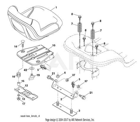 poulan ppg    parts diagram  seat