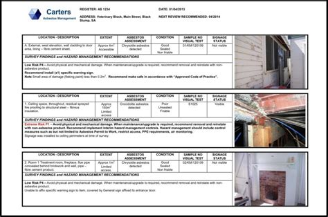 Services   Asbestos Registers