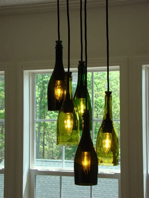 Wine Bottle Chandelier Cascading Wine Bottle Chandelier