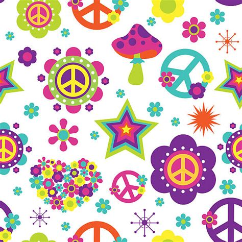 hippie vector pattern hippie clip art vector images illustrations istock