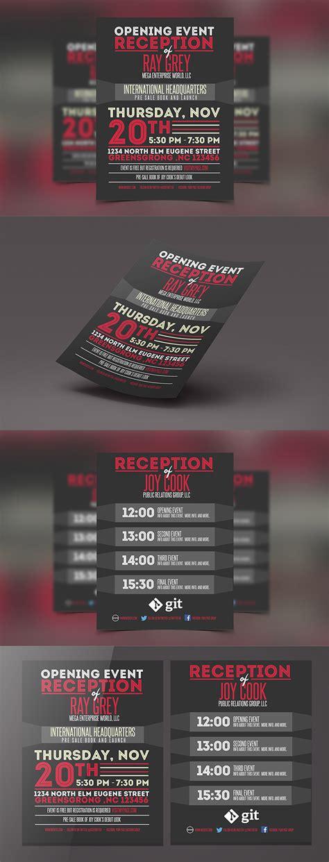 Event Program Template Psd Flyer Brochure Graphicfy 2015 Flyer Card Template