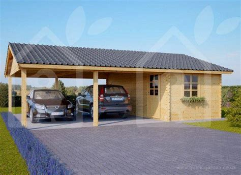 wooden carport   shed  perfect   garden quick garden