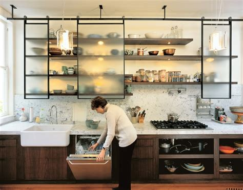 Open shelving in kitchens used to mean that you had an old small