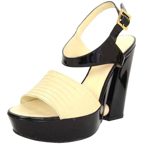 Sandal Selop Vogue Creme chanel black and platform pearl heeled sandals sz 39 5 for sale at 1stdibs