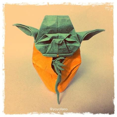Single Fold Origami - fold me you will make an origami yoda from a single sheet