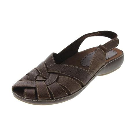 baretrap sandals bare traps new fayette brown leather slingback sandals