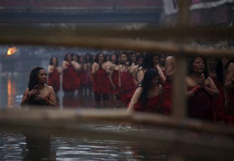 reuters bathroom swasthani brata katha festival