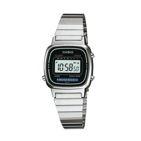 casio montre quartz chronographe la670wea1ef femme argent 233 chic achat vente montre soldes