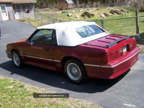 1987 Ford Mustang 1987 Ford Mustang Gt Convertible