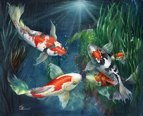 the gallery for gt koi paintings terry gilecki