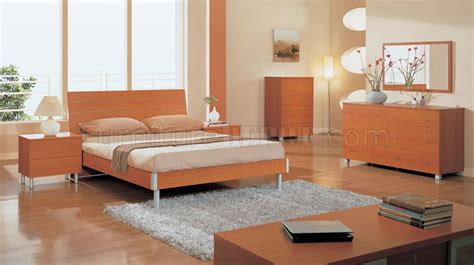 light cherry bedroom furniture light cherry finish modern bedroom