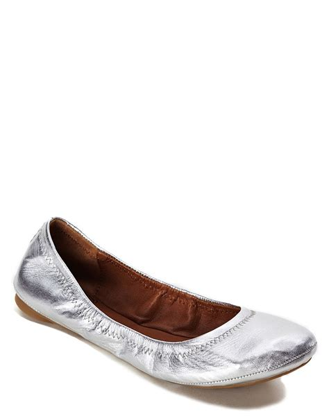 silver shoes flats lucky brand emmie ballet flats in silver lyst
