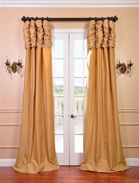 ruched drapes honey ruched faux solid taffeta curtain contemporary
