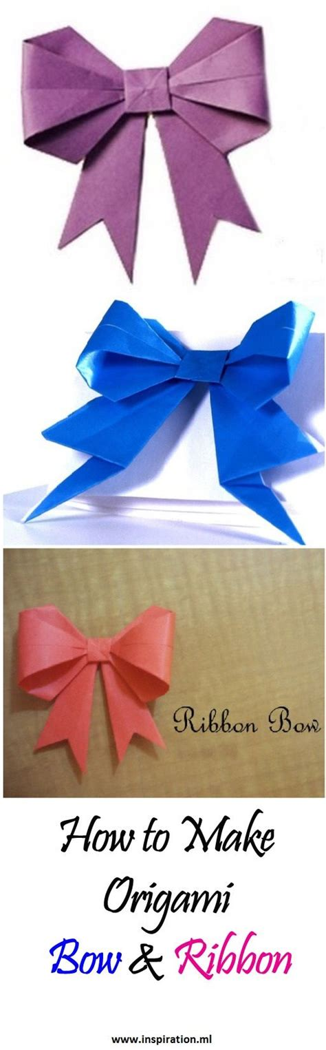 Ribbon Origami Tutorial - best 25 origami bow ideas on oragami 3d