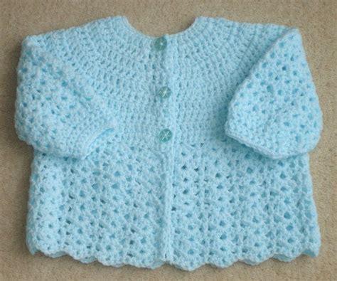newborn baby sweater pattern free crochet baby sweater patterns crochet matinee