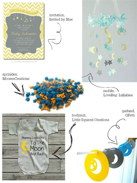 Moon And Baby Shower by Moon And Baby Shower Theme Inspiration Baby By