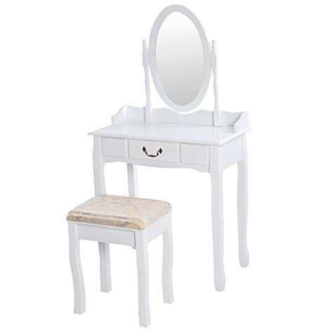 Jewelry And Makeup Vanity Table Giantex Vanity Table Jewelry Makeup Desk Bench Dresser W Stool 3 Drawer Whitevanity Table