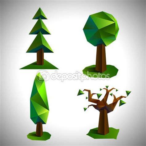 illustrator jungle tutorial set of the low poly trees vector de stock 169 igorkuus