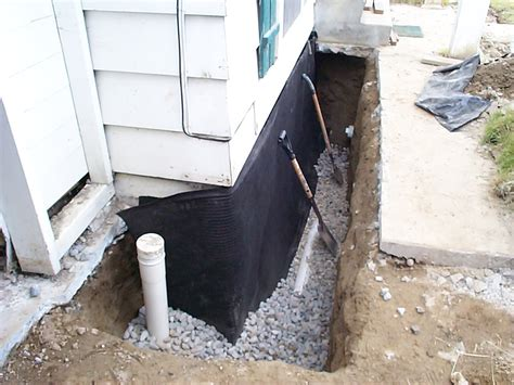 exterior foundation footing drain for basement allied