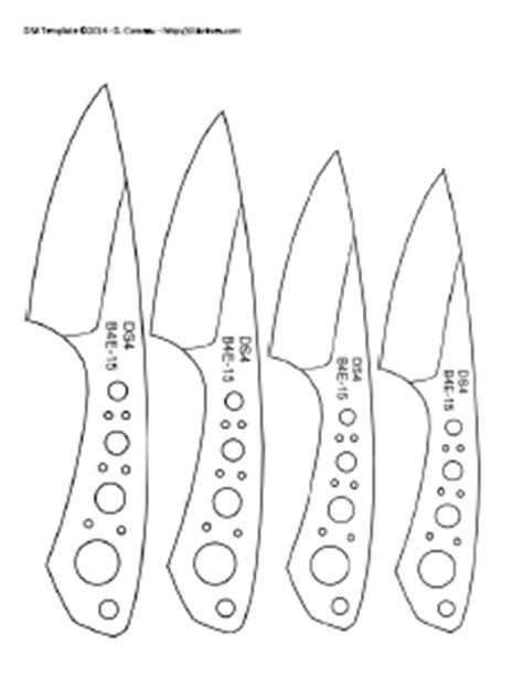templates for knife making d comeau custom knives diy knifemaker s info center