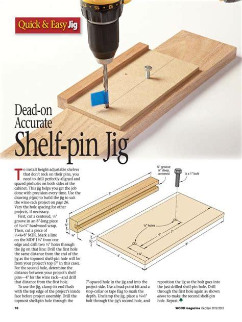 Shelf Pin Jigs by Shelf Pin Jig Woodworking Quot Stuff Quot Techniques