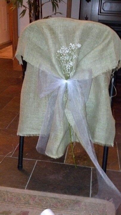 Diy Burlap Chair Sashes by The World S Catalog Of Ideas