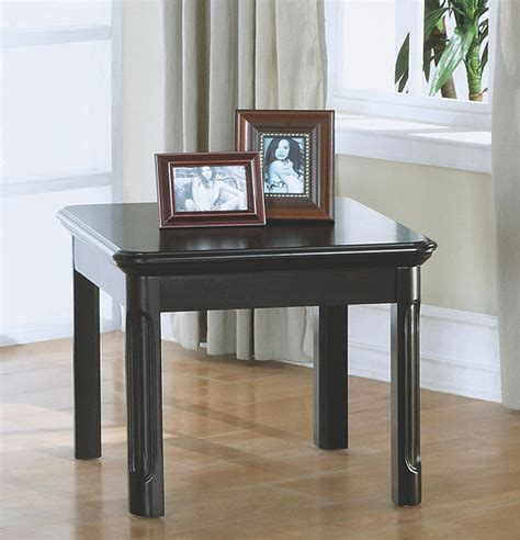 Distressed Coffee And End Tables Distressed Black Veneer End Table Contemporary Side Tables And End Tables By Overstock