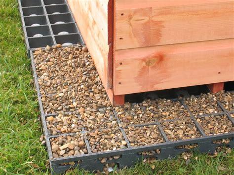 Gravel Shed Base by Shedswarehouse Ecobase Ecobase 6ft X 4ft 12 Grids