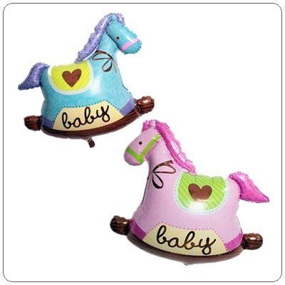 Balon Foil Kuda Trojan Biru Dan Pink balon foil baby trojan mini foil kuda troya mini