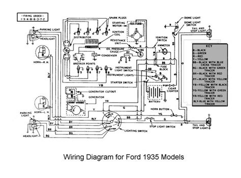 ford truck wiring diagrams 1935 flathead electrical