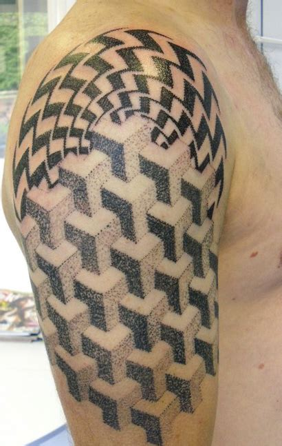 illusion tattoos designs abstract artistic optical illusion 171 inked