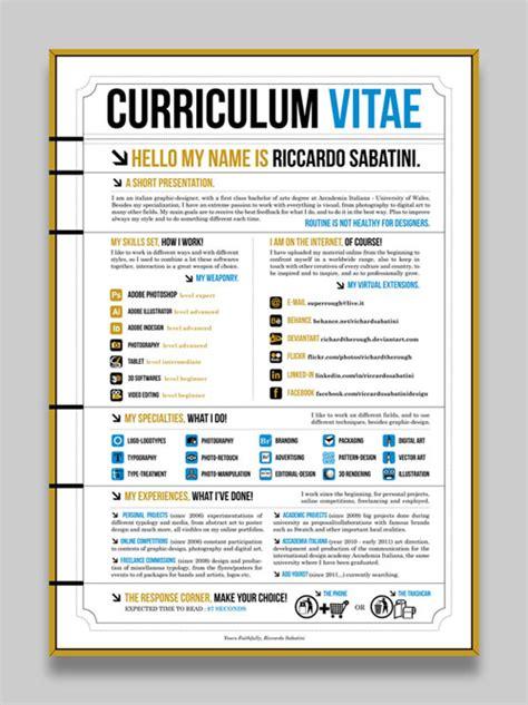 great examples  creative cv resume design web