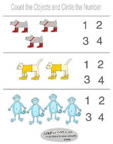This is an easy preschool worksheet let the kids count the objects