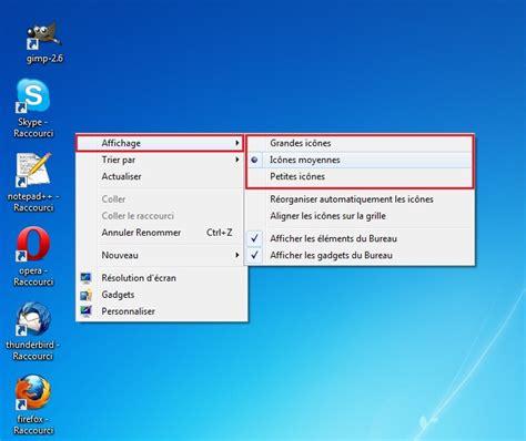 comment changer l image du bureau changer la taille des ic 244 nes du bureau info et actualit 233