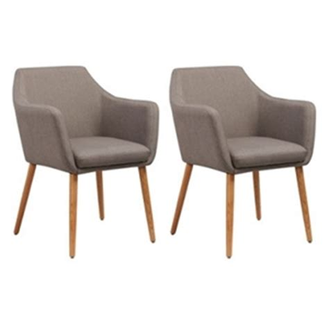buy set of 2 lang fabric dining chairs