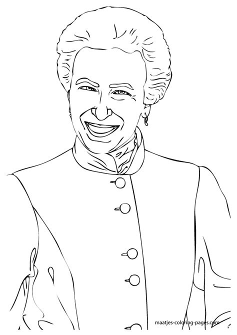 coloring pages royal family princess anne coloring pages