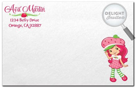 Strawberry Shortcake Invitation Template by Strawberry Shortcake Birthday Invitations The New