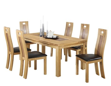 dining room table and chair sets solid oak dining table and chairs marceladick