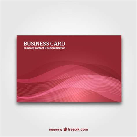 business card with abstract background vector vector