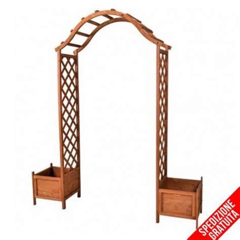 archi per giardino arco per ricanti grigliato e fioriere in legno da
