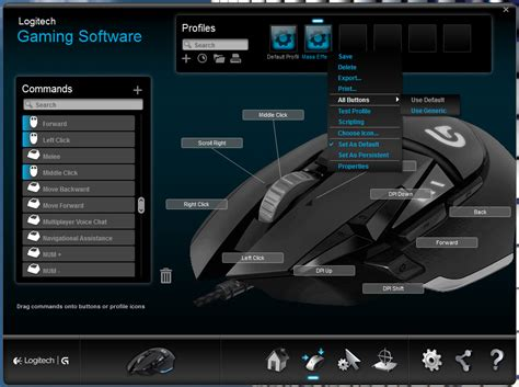 logitech software logitech g502 proteus tunable gaming mouse review
