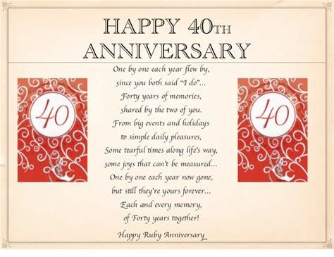 wedding anniversary quotes 40 years 40th anniversary wishes fortieth wedding anniversary